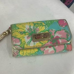 Lilly Pulitzer Floral print clutch/wallet
